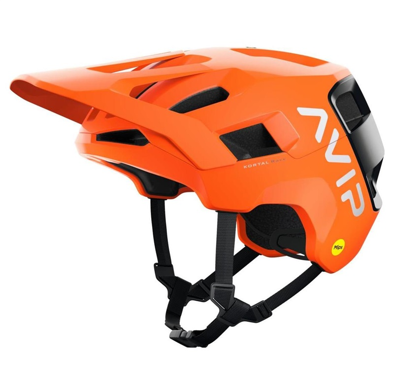 POC Kortal Race Mips Fluorescent Orange Uranium Black Matt